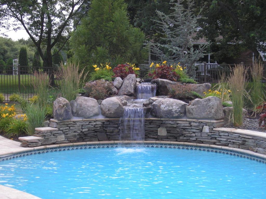 Spa Waterfalls Aquatic Artists Pool Waterfalls Nj