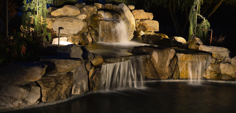 hdr-lighting   Aquatic Artists   Pool Waterfalls   NJ, PA