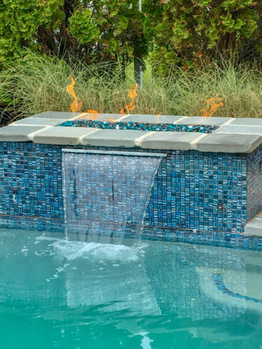 formal water feature in Avalon, NJ