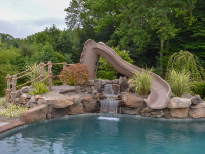 natural stone waterfall in Manalapan, NJ