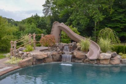 natural stone waterfall inManalapan, NJ