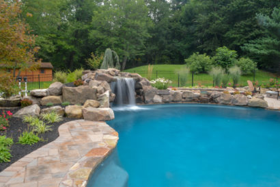stone water feature in Limerick, PA