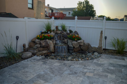 pondless waterfall in Brigantine, NJ