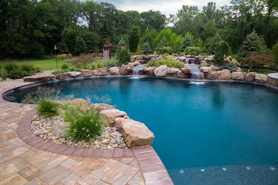 Heller Ringoes Nj Aquatic Artists Pool Waterfalls