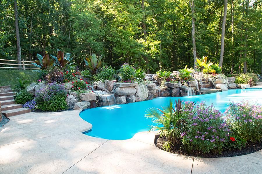 Wilkenson - Spring City, NJ | Aquatic Artists | Pool Waterfalls | NJ ...